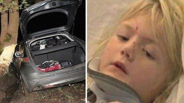 Wskutek wypadku samochodowego ciało 6-letniej Samanthy niemal zostało przecięte na pół! Niestety do powstania dramatycznych obrażeń przyczynili się rodzice