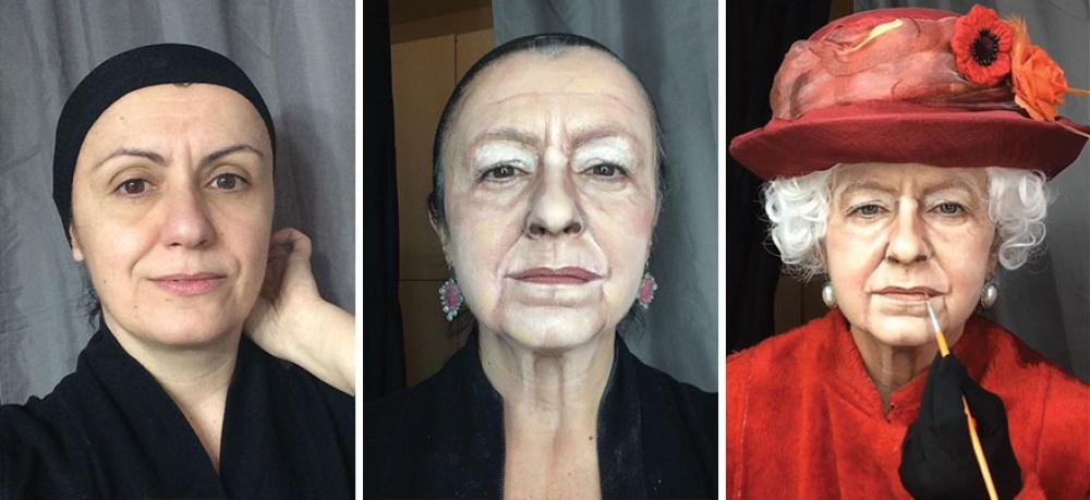 Lucia Pittalis jest tak utalentowaną wizażystką, że maluje portrety sławnych ludzi na... własnej twarzy!