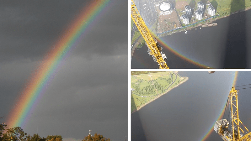 When it stopped raining, the builders began to rub their eyes in surprise: in the sky appeared a rainbow not in the shape of an arc, but a whole circle! 3
