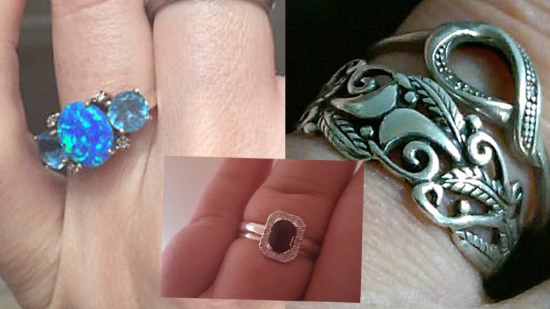 This woman was devastated that she got a cheap engagement ring. After a while she was flooded with a wave of pictures ... cheap rings, of which the owners are proud 5