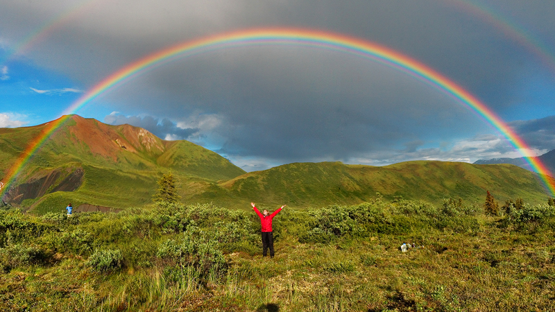 He was driving his car when he accidentally stumbled across the end of a rainbow. See if at the end there was treasure! 2