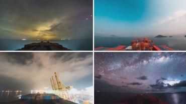 Marynarz stworzył oszałamiający film z miesięcznej podróży kontenerowcem. 80 tysięcy obrazów w kilkuminutowym filmie zapiera dech w piesiach