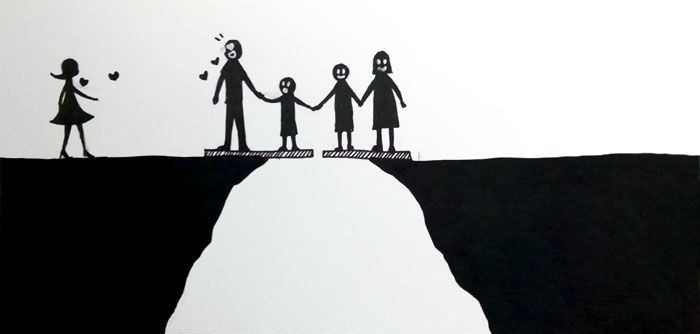 What does divorce do to a family? These simple illustrations not only answer this question, but also encourage deep reflection! 2
