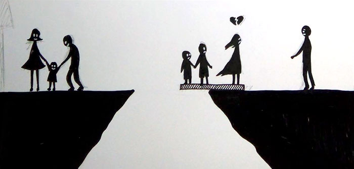 What does divorce do to a family? These simple illustrations not only answer this question, but also encourage deep reflection! 3