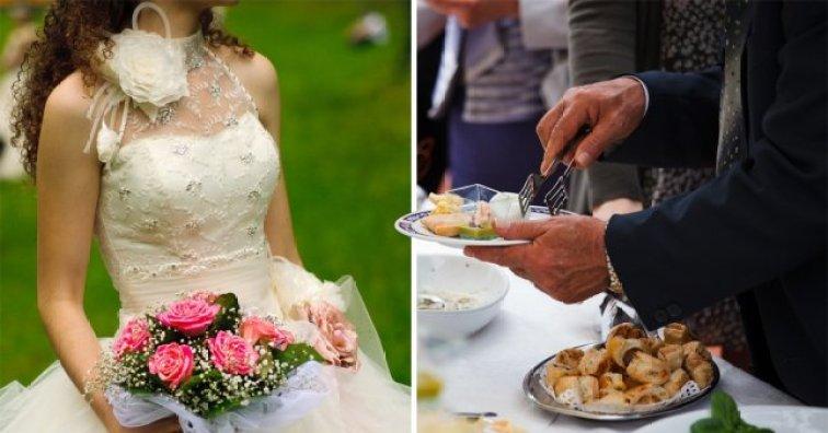 Kobieta nakradła jedzenia z wesela. Gdy młodzi otworzyli od niej kopertę, przeżyli załamanie