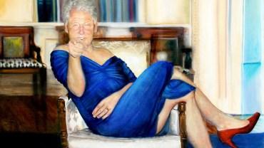 W kryjówce pedofila znaleziono obraz Billa Clintona ubranego w sukienkę i szpilki! Były prezydent miał z nim wiele wspólnego