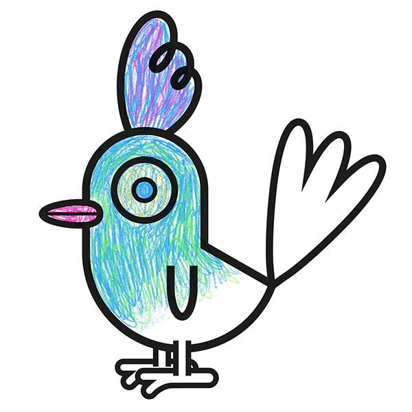 Dessin d'un oiseau à colorier