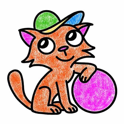 Coloriage chat avec dessin gratuit à imprimer - Je suis créatif