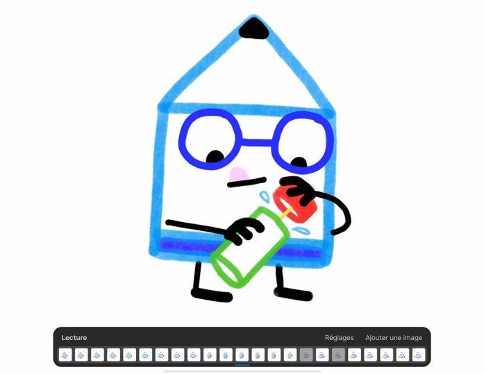Animation vœux sur Procreate