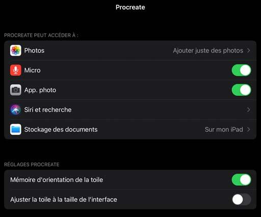 Activer l'appareil photo de l'ipad.