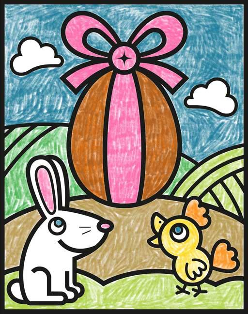 Coloriage œuf de Pâques