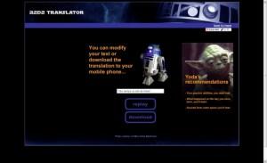 R2D2 Translator : faites-vous comprendre par votre droïde 1