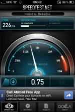 IMG 0086 - Testez le débit de votre connexion mobile avec Speedtest.net Mobile !