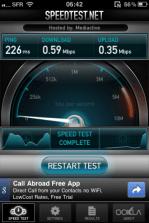 IMG 0087 - Testez le débit de votre connexion mobile avec Speedtest.net Mobile !