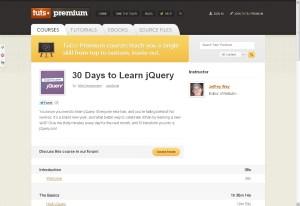 30 jours pour apprendre JQuery 1