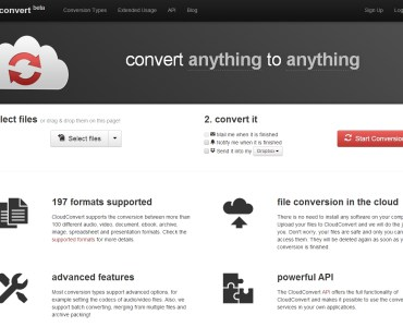 ClouConvert, Convert anything to anything