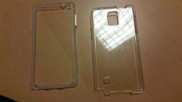 Les deux parties de la coque Case-Mate Naked Tough pour Samsung Galaxy Note 4