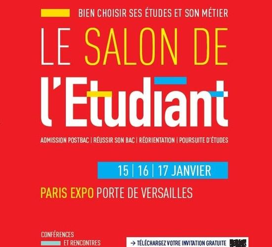 Affiche du salon de l'étudiant de Paris 2016