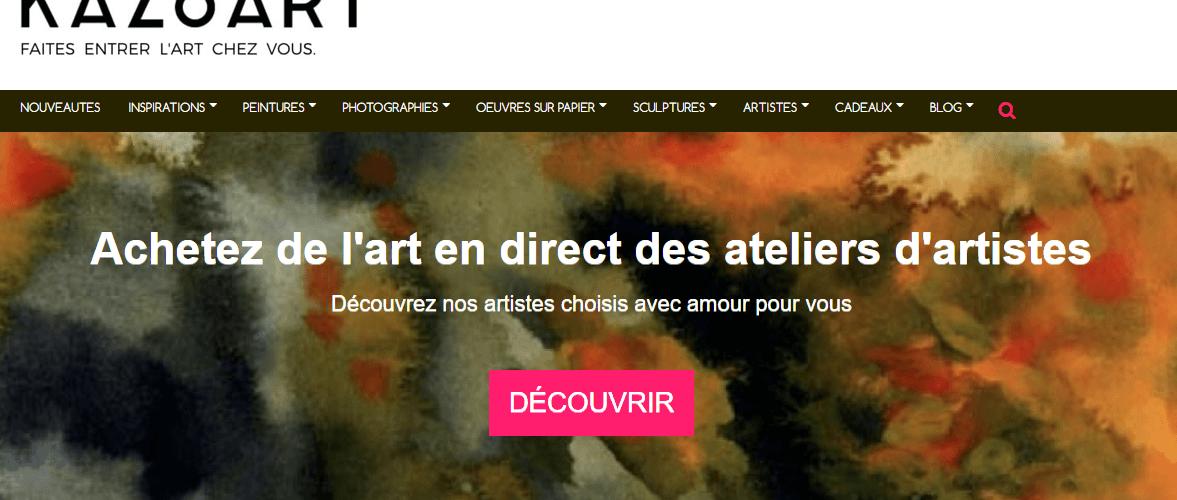 KAZoART galerie d'art en ligne