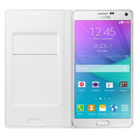 Test de la flipcover wallet officielle pour Samsung Galaxy Note 4 blanche 3