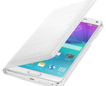 flip cover out - Test de la flipcover wallet officielle pour Samsung Galaxy Note 4 blanche