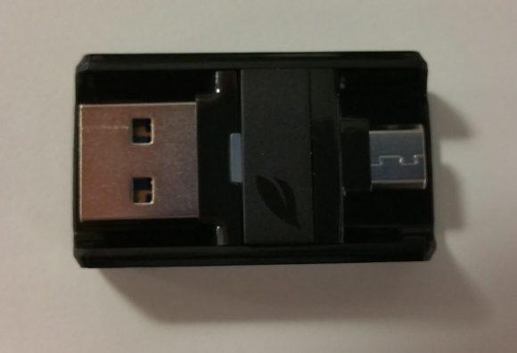 La clé micro USB Leef Bridge 3.0 16 Go noire