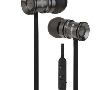 Les écouteurs bluetooth Groov-e Bullet Buds Metal avec micro argent