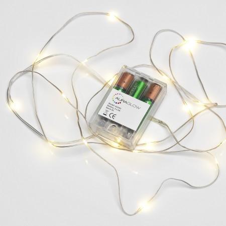 lumières led agl a piles - Test des lumières micro LED AGL à piles de 2.3m