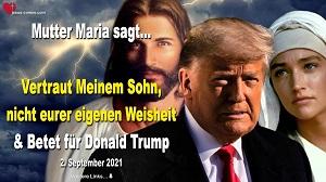 Betet für Donald Trump