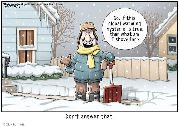 Comics, 2-27-18: Climate Hoax - JESUS, OUR BLESSED HOPE