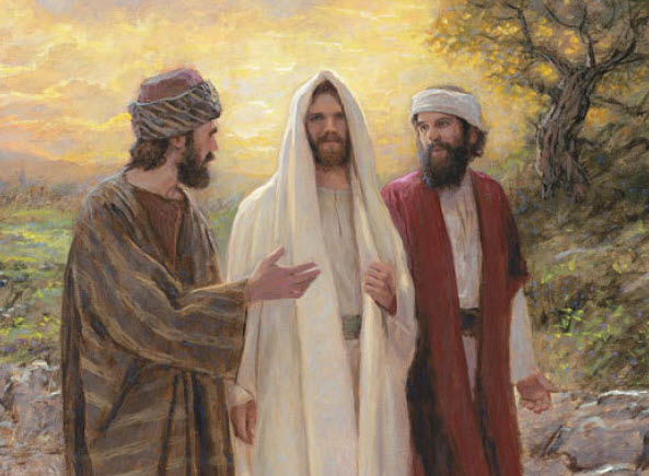 Image result for Jesus appeared to those walking along the road, art, photos