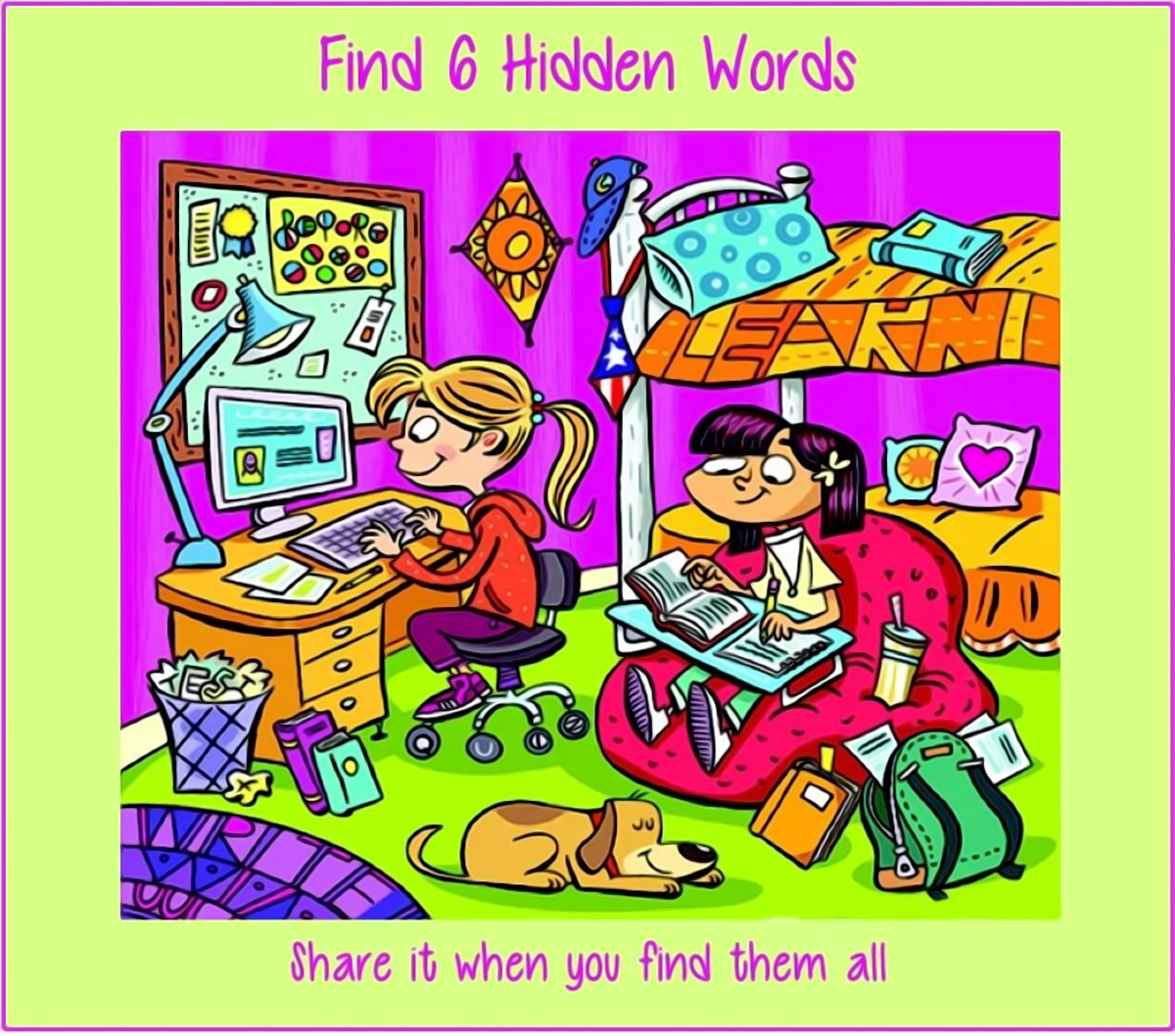 Find The 6 Hidden Words In This Picture