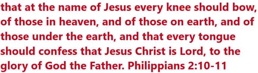 JESUS is LORD Ministry banner Philippians 2:10-11