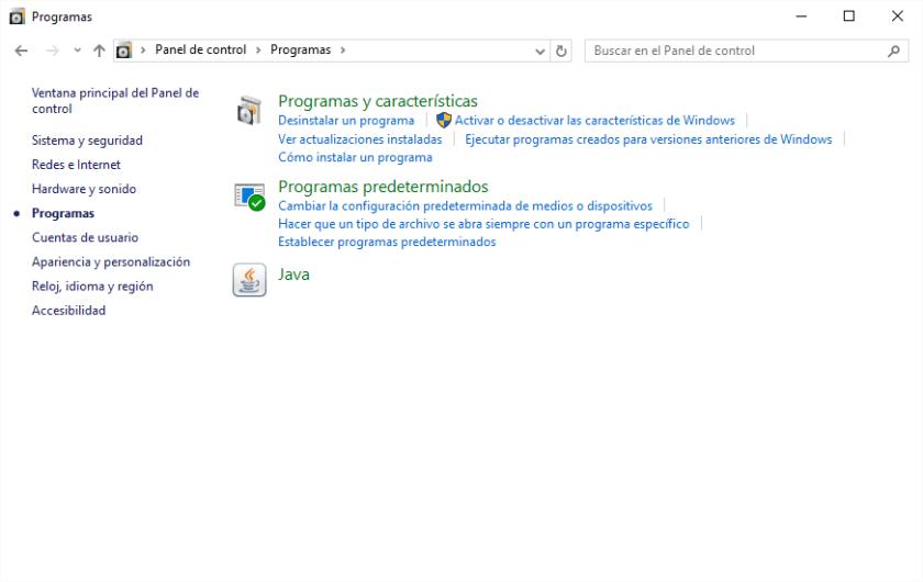 ProgramasPaneldecontrol