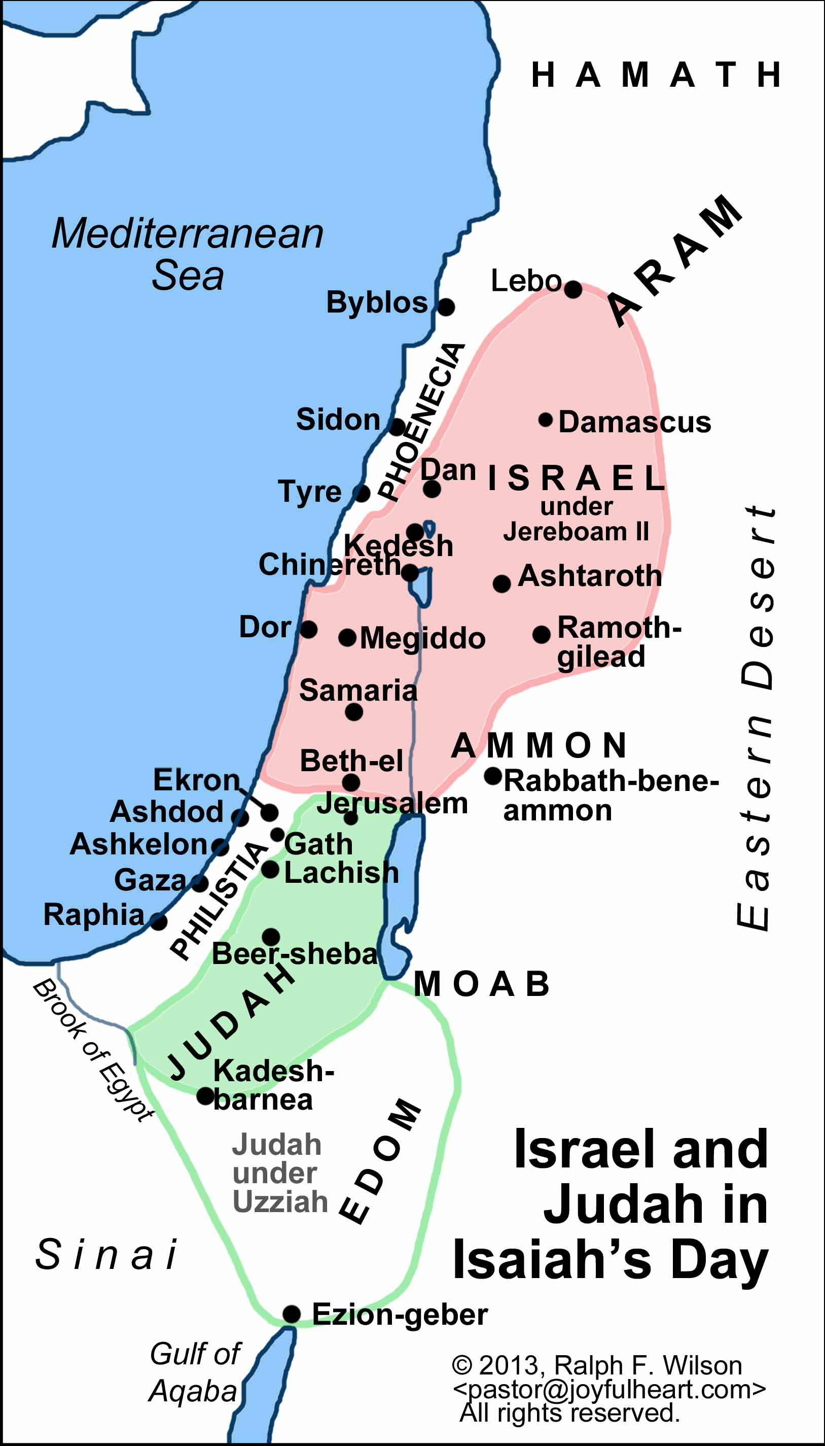 Image result for Where was location of Syria in relation to Israel during Isaiah's time?