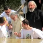 Baptism at Jordan River, Israel