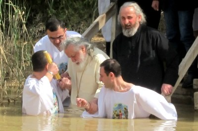 Baptism at Jordan River, Israel