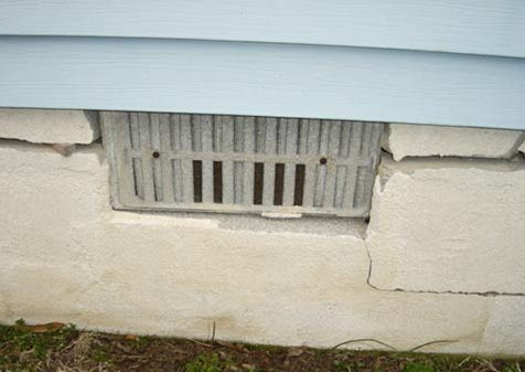 Cracked Block Foundation -