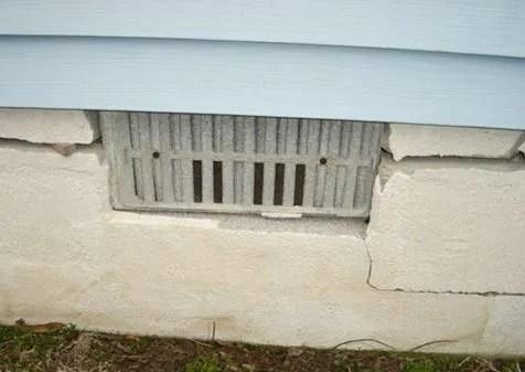 Cracked Block Foundation -