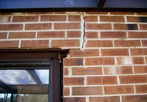Vertical Cracked Bricks? This is a serious sign of foundation damage.