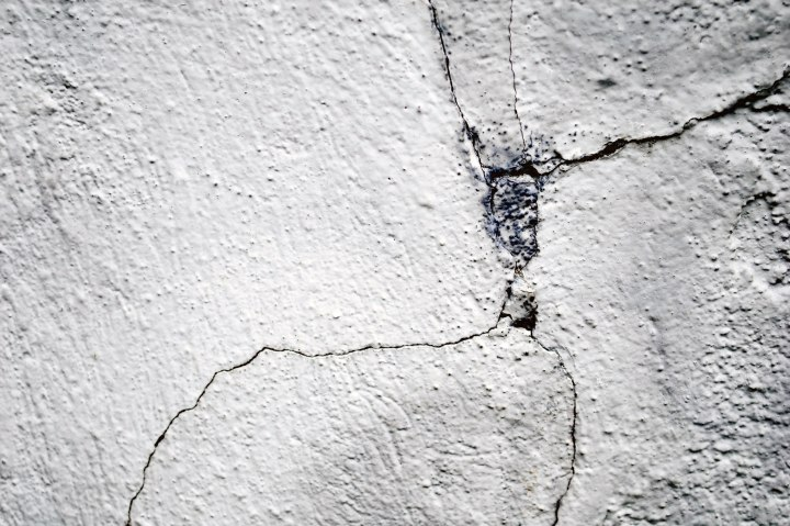 Cracked stucco closeup image