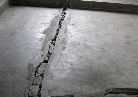 cracks in basement floor