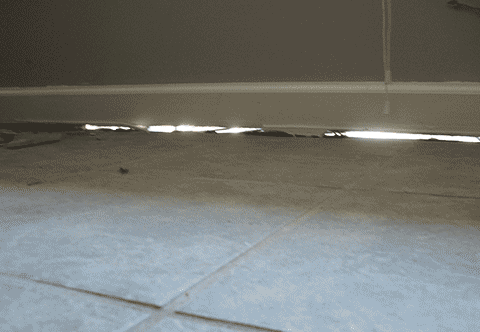 Floor Gaps & Cracks