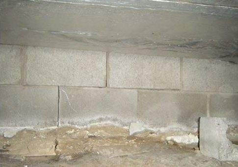 Efflorescence on basement walls or in your home's crawl space