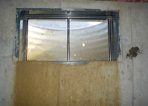 Leaking window well - window well drainage - basement water problems