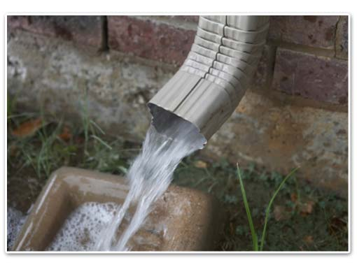 Downspouts need to be extended and pointed away from your home's foundation to prevent a foundation drainage problem.