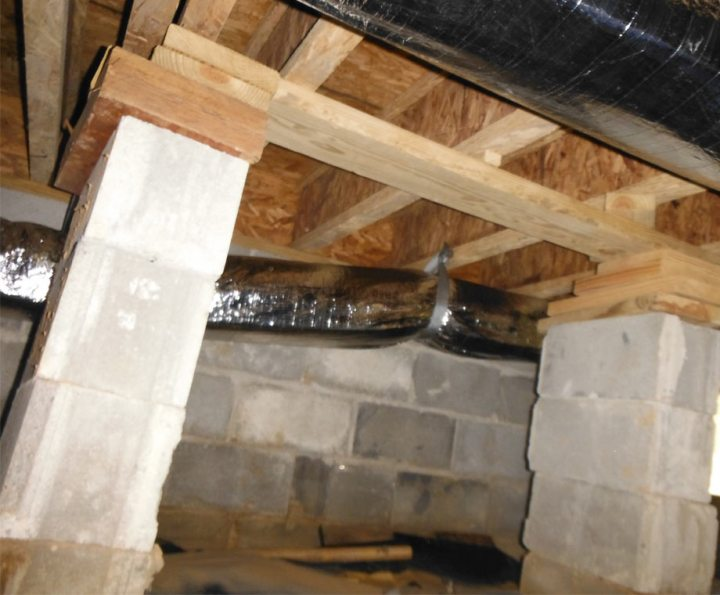 failing floor joists and supports