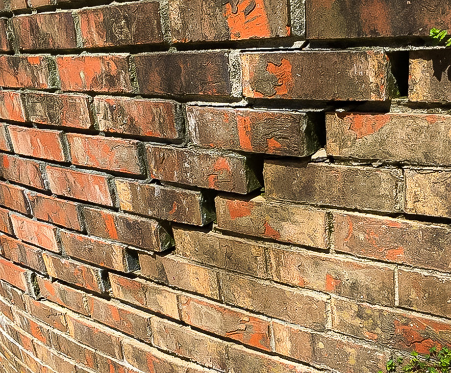 Cracked brick