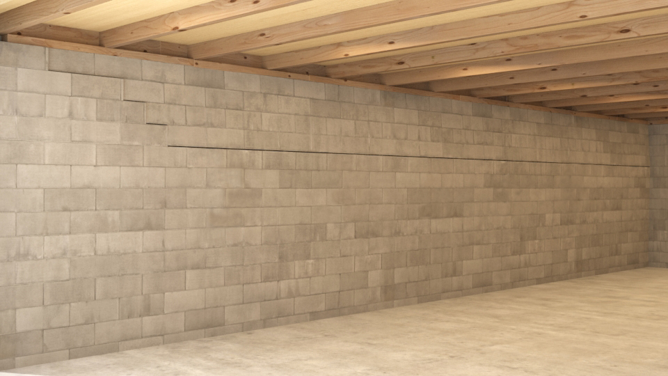 Carbon Fiber Basement Wall Repair
