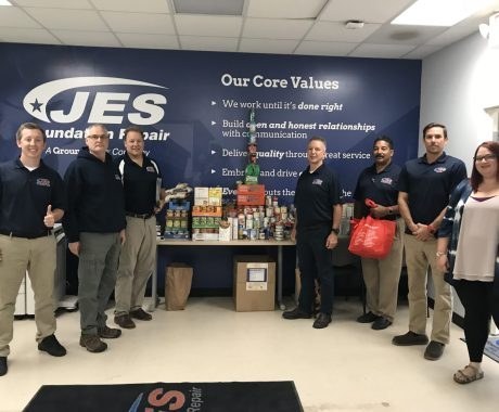 JES Foundation Repair Helps Feed Hungry Families